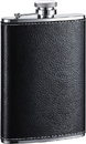Visol Max Black Leather Liquor Flask - 8 oz