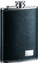 Visol Max Black Leather Stainless Steel Flask - 8oz