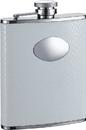 Visol Coverdale White Snakeskin Leatherette Stainless Steel Hip Flask - 6oz