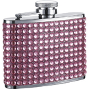 Visol Kylie 4oz Pink Bling Stainless Steel Hip Flask