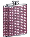 Visol Kylie 6oz Pink Bling Stainless Steel Hip Flask