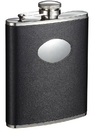 Visol Montego Black Leather Liquor Flask - 6 oz