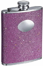 Visol Carolina Lavender Glitter Flask for Women - 6oz