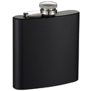 Visol Raven Black Stainless Steel Hip Flask - 6 oz