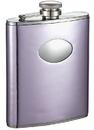 Visol Thistle Light Purple Leatherette Stainless Steel Hip Flask - 6oz