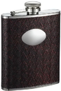Visol Zandor Reddish Black Stainless Steel Hip Flask - 6 oz