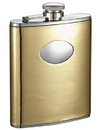 Visol Foxy Polish Gold Leatherette 6oz Stainless Steel Hip Flask