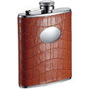 Visol Brooke 6-ounce Orange Crocodile Pattern Flask