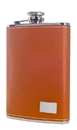 Visol Wrangler Brown Leather Liquor Flask - 8oz