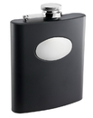 Visol Raven Black Liquor Flask with Engraving Plate - 8 ounce