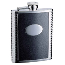 Visol Tux 18oz Black Leather Stainless Steel Flask