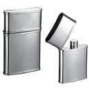 Visol Flip Top Mirror Finish Stainless Steel 2.5 oz. Hip Flask