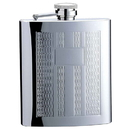 Visol Textured Columns Matte Engraved 8 oz. Hip Flask