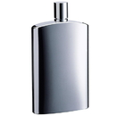 Visol David Brushed Metallic Small Stainless Steel 4 oz. Hip Flask