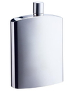 Visol David Brushed Metallic Large Stainless Steel 8 oz. Hip Flask