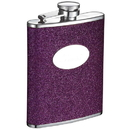 Visol Caitlyn Glitter Purple Stainless Steel 6 oz. Hip Flask