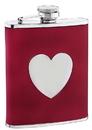 Visol True Love Red Leather Liquor Flask - 6 oz
