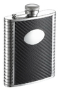 Visol Monte Carbon Fiber Leather Liquor Flask - 6 oz