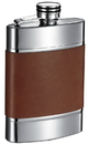 Visol Wickeln Brown Leather Liquor Flask - 6 oz