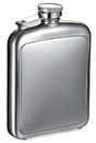 Visol Vitak Polished and Brushed Metal Hip Flask - 8 oz
