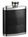 Visol Joey Black Leather Wrapped Liquor Flask - 7 oz