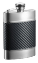Visol Wickeln Carbon Fiber Patterned Leatherette Liquor Flask - 6 oz