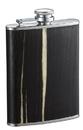 Bark Exotic Dark Wood Finish Liquor Flask - 7 ounce