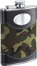 Visol Army Green Camouflage & Stainless Steel Liquor Flask - 8oz