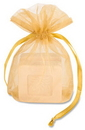 Gold Organza Pouch for Flasks