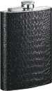 Visol Ezra Handcrafted in USA Black Leather Flask - 8 oz