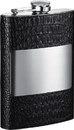 Visol Mikhail Handcrafted in USA Black Leather Flask - 8 oz