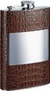 Visol Rockford Handcrafted Cognac Leather 8oz Hip Flask