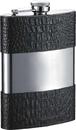 Visol Ryan Handcrafted Black Leather 8oz Hip Flask