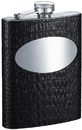 Visol Scott Handcrafted Black Leather 8oz Stainless Steel Flask