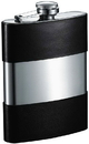 Visol Andrew Handcrafted in USA Genuine Black Leather Flask - 8 oz