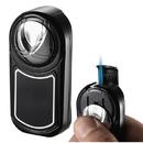 Visol Dobrev Single Jet Flame Black Matte Chrome Lighter