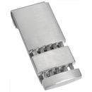 Visol Perseus Satin and Polished Stainless Steel Engravable Money Clip
