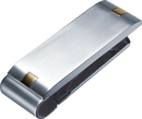 Visol Andromeda Stainless Steel Engravable Money Clip With Gold Plated Accents