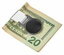Visol Origin Matte Black Stainless Steel Money Clip
