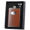 Visol Hound Brown Leather 8oz Flask Gift Set