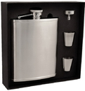 Visol Edge Satin Finish Stainless Steel 18oz Deluxe Flask Gift Set