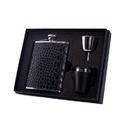 Visol Beau Monde Crocodile Leather Deluxe Hip Flask Gift Set - 6 oz