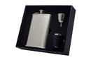 Visol Edge Satin Finish 8oz Deluxe Flask Gift Set