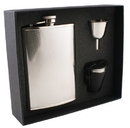 Visol Pixel Stainless Steel 8oz Flask Gift Set