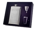 Visol Mark Knit Design Stainless Steel 8oz Deluxe Flask Gift Set