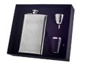 Visol Mark Knit Design Stainless Steel 8oz Deluxe Flask Gift Set