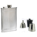 Visol Athens Greek Bands Deluxe Hip Flask Gift Set - 8 oz