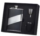 Visol Descent Black Leather 8oz Deluxe Flask Gift Set