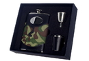 Visol GI Joe 8oz Green Camouflage Stainless Steel Deluxe Flask Gift Set