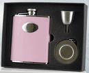 Visol Bridesmaid Pink Hip Flask, Telescopic Shot Cup and Funnel Gift Set - 6 oz